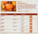 Fall Scene sign up sheet
