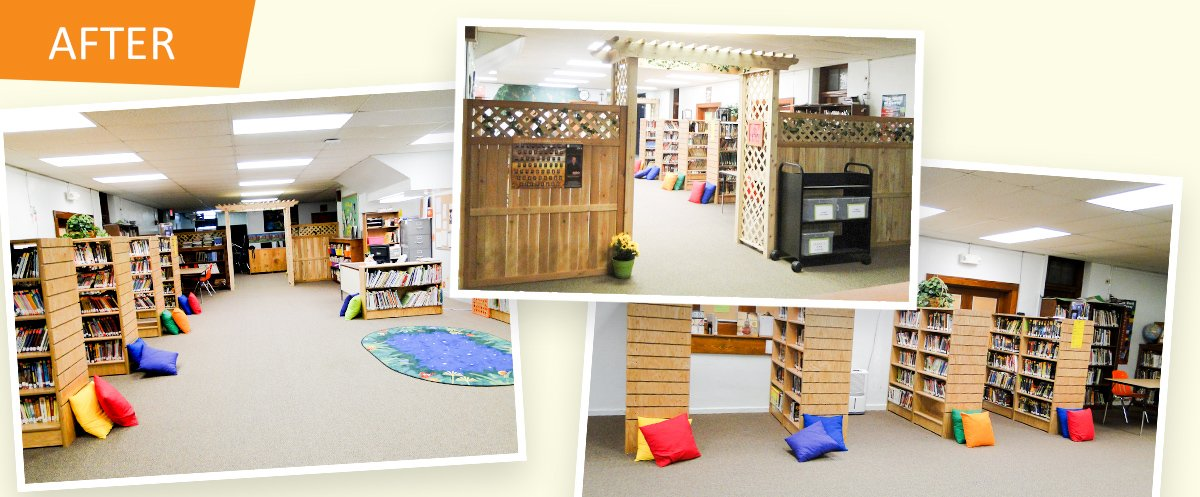 after pictures library makeover st josephs ost