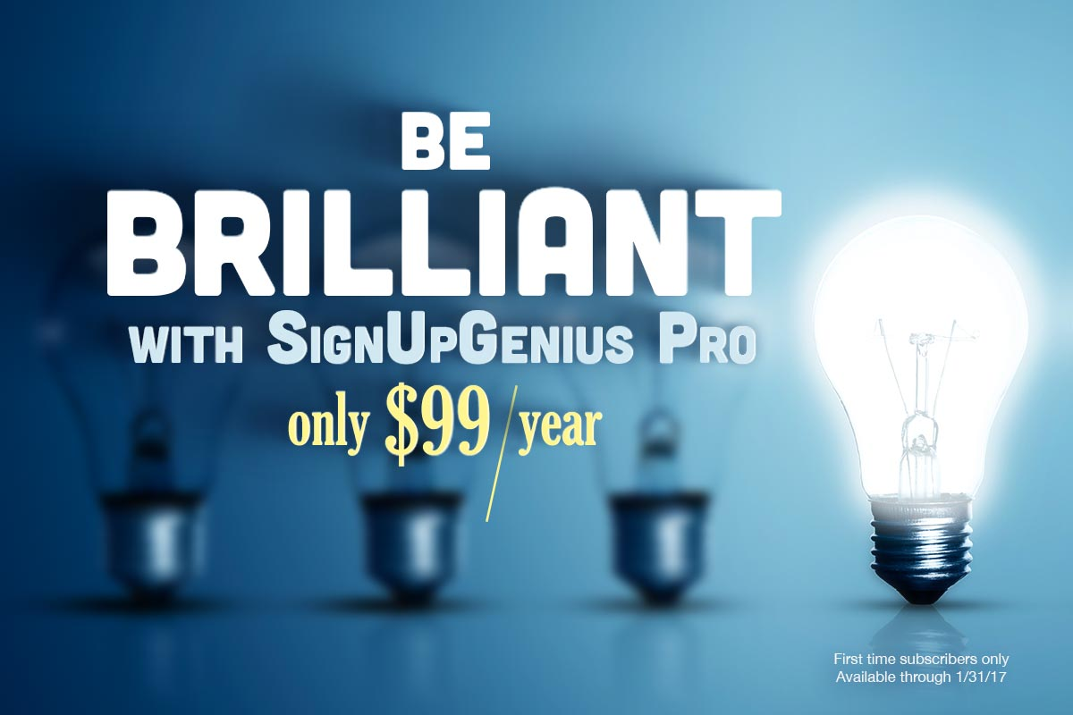 new year special pricing signupgenius 2017
