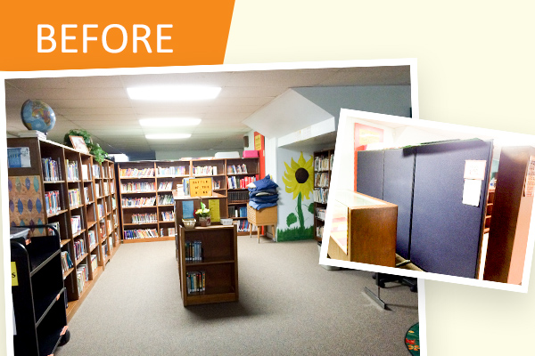before pictures library makeover st joseph ost