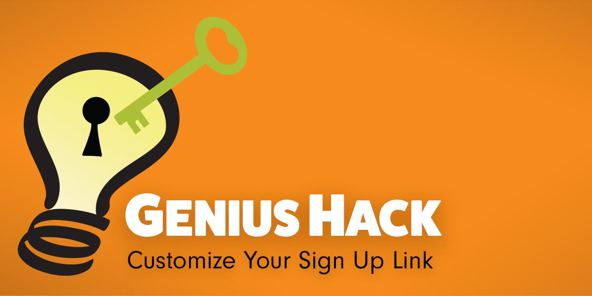 signupgenius customized shortened URL link online sign ups