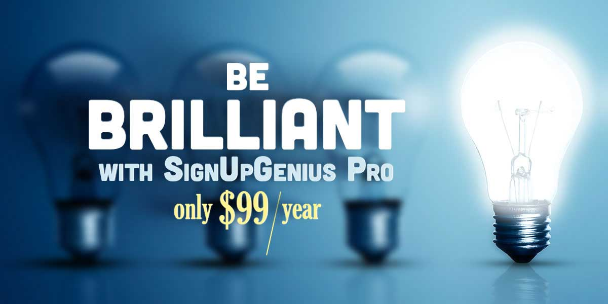 signupgenius new year deal pro promo advanced features deal special promotion