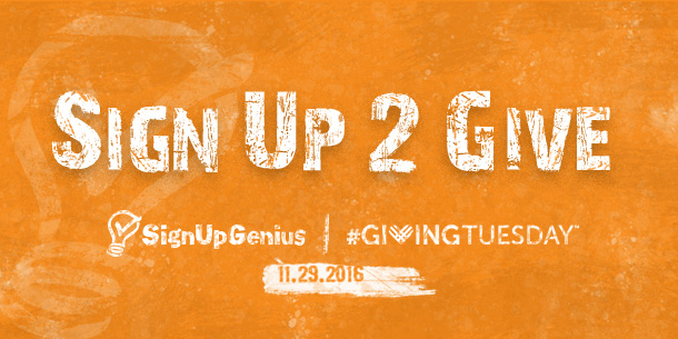sign up, giving, Giving Tuesday, nonprofits, charity, charitable, donations