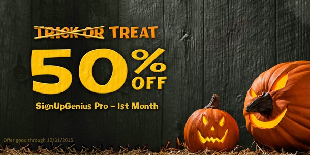 halloween special offer signupgenius deal