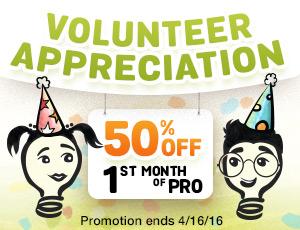 special deal volunteer appreciation half off