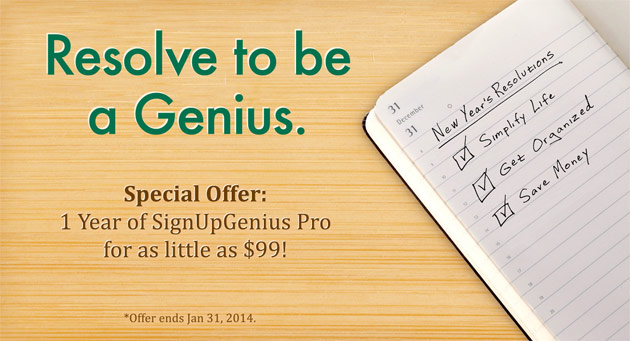 SignUpGenius promotion