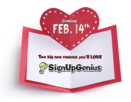 Upgrades new features Valentine's Day SignUpGenius