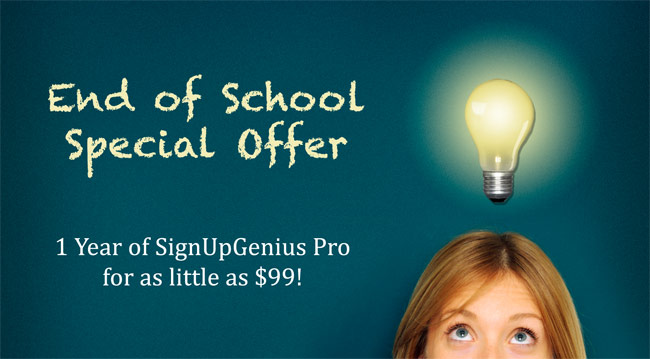 Special End of School Offer!