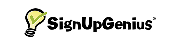 Graphic showing yellow and green Sign Up Genius logo