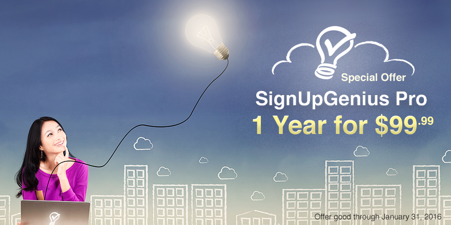 signupgenius organizing sign ups online promo deal special pricing