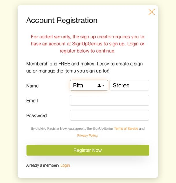 account registration required security feature
