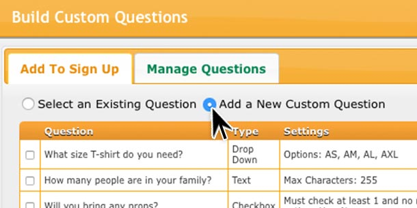 custom questions, SignUpGenius, how to,