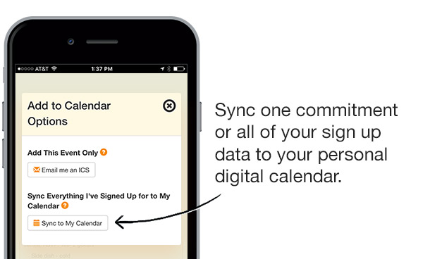 online sign up reminders digital calendar sync