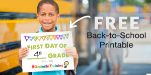 free back to school printable resource first day