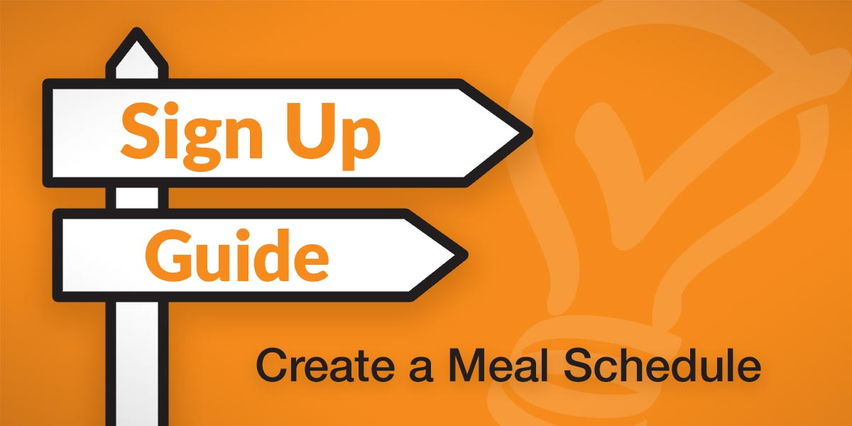 sign up guide create a meal schedule