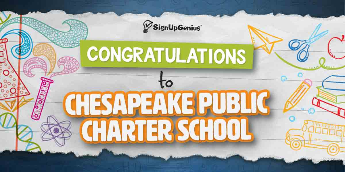 signupgenius back to school giveaway contest winner announcement chesapeake public charter school