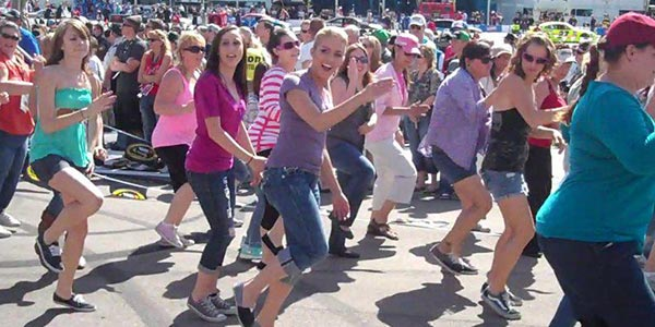 flash mob las vegas organize group dance online sign ups event