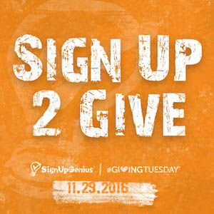 SignUpGenius, giving, donations, corporate, business, partners, Giving Tuesday