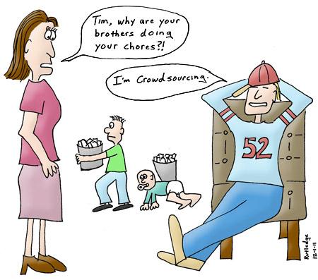Crowdsourcing comic by Dan Rutledge, 2011.