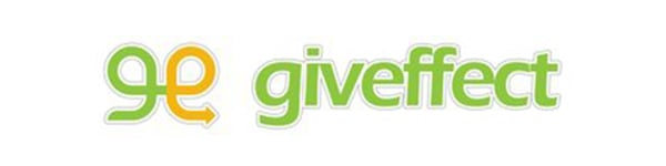 Graphic showing green and orange Giveffect logo