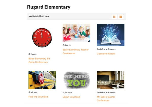 rugard elementary index page