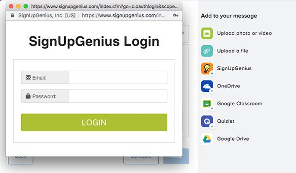 signupgenius remind app integration partnership
