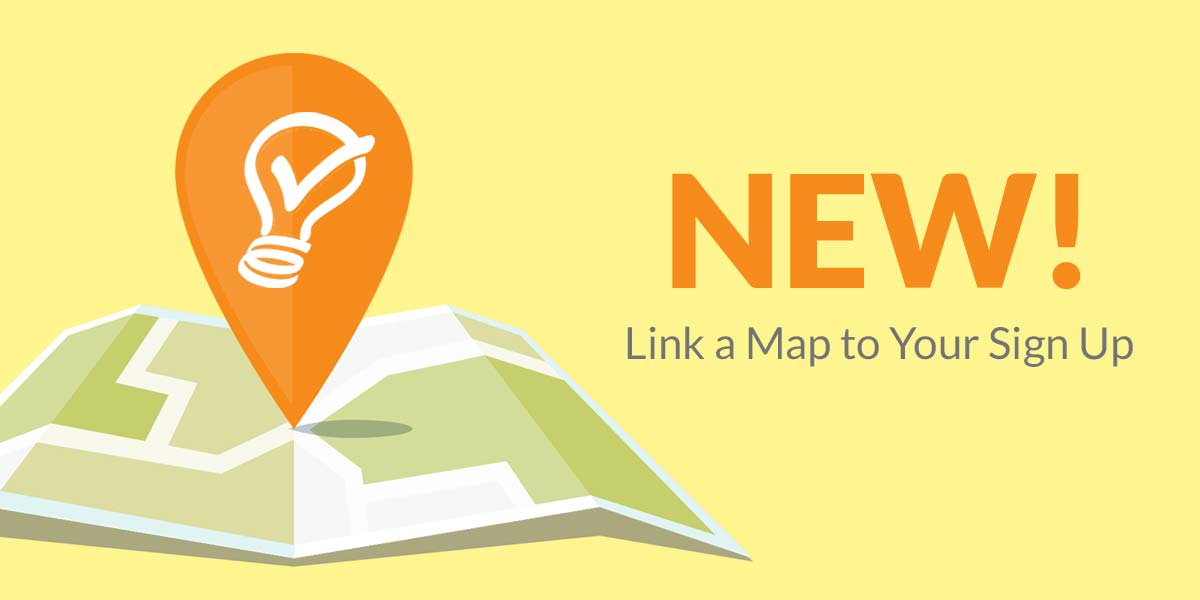 link locations feature Google maps sign up