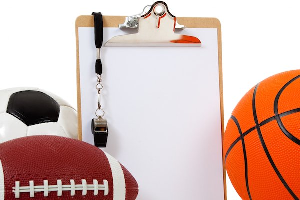 sports season sports football basketball clipboard