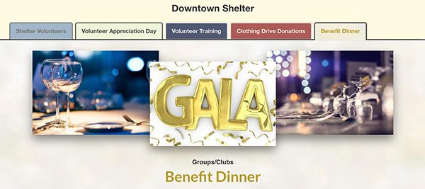 nonprofit shelter sign up tabbing