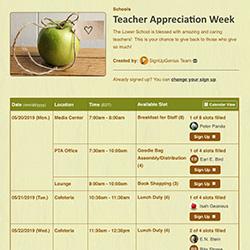 teacher appreciation gifts ideas tips sign ups online sheets organizing