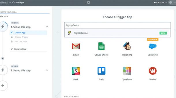 automate online sign up data developer integration zapier trigger app apps