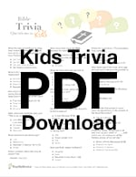 50 Bible Trivia Questions for Kids, Youth Groups and Adult