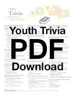 graphic regarding Printable Bible Trivia Games referred to as 50 Bible Trivia Concerns for Little ones, Youth Types and Grownup