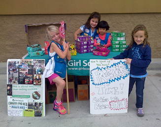 Girl Scout cookie booth scheduling