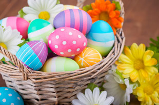 20 easter traditions for families easter eggs in basket cherished traditions negle Choice Image