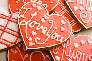 i love you cookie valentine