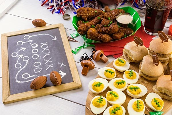football party ideas entertaining hosting food appetizers decorations games activities