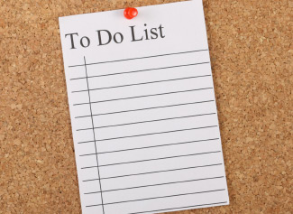 corkboard to do list