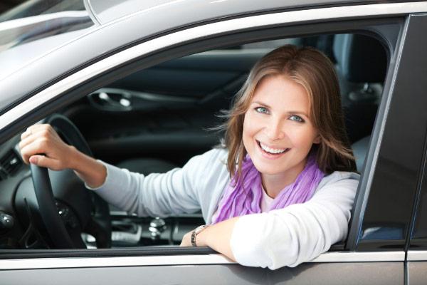 carpool mom driving