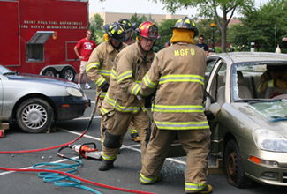 Maple Grove Firefighter Demonstration