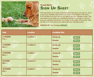 Animal Rescue Pet Sitting adoption volunteer sign up service project
