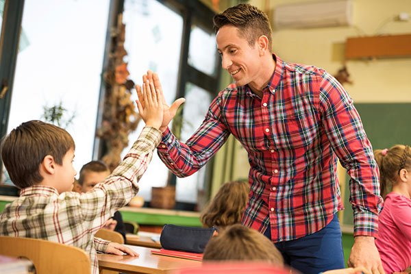 Teacher High Five Student
