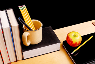 teacher desk organizing, back-to-school organizing tips