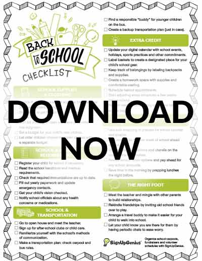 back to school checklist printable students teachers parents organization supplies