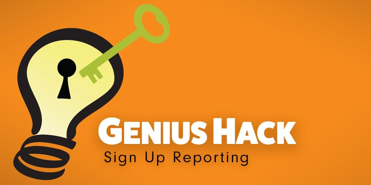genius hack tips ideas how to guide online sign ups SignUpGenius reporting export reports spreadsheet information