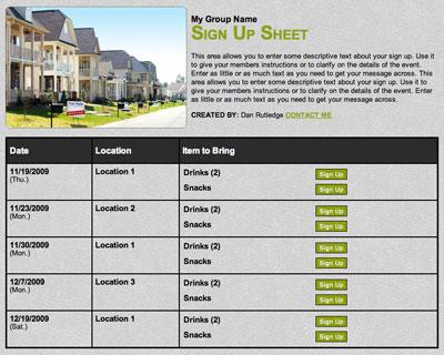 Rreal estate open house invitation schedule