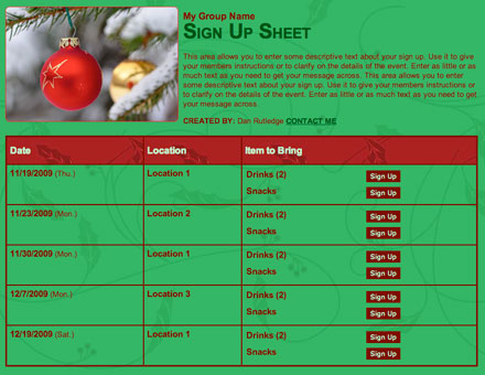 holiday class school christmas party volunteer sign up