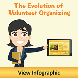 The Evolution of Volunteer Organizing. Click to view Infographic