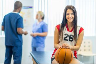 girls basketball injury