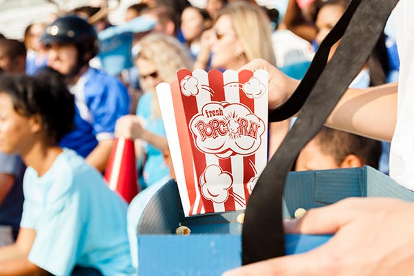 popcorn being sold by concessions to represent sports team fundraising
